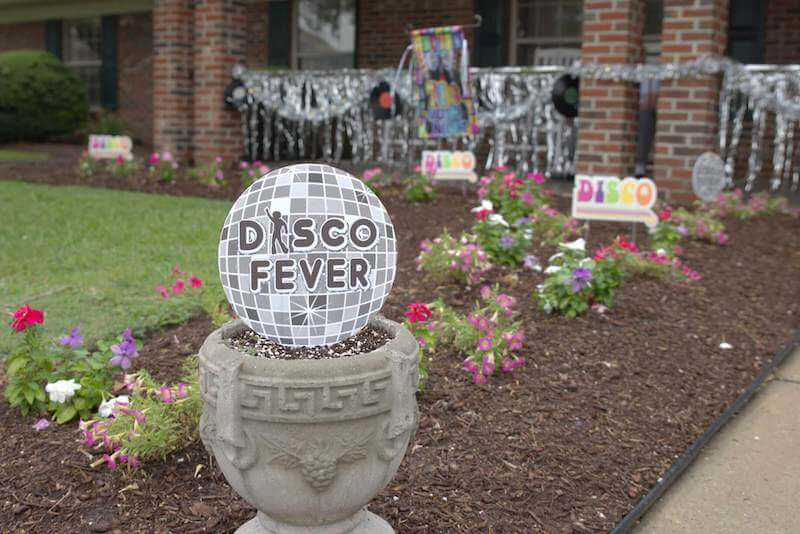 Disco party for residents