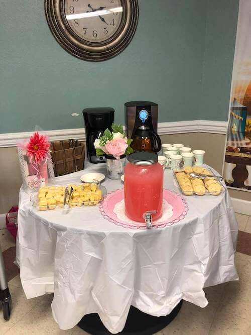 Tea party for residents on Mother's Day